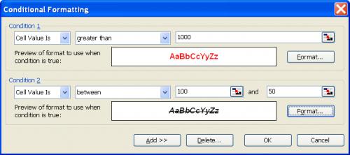 1.5 pav. Sąlyginio formatavimo langas